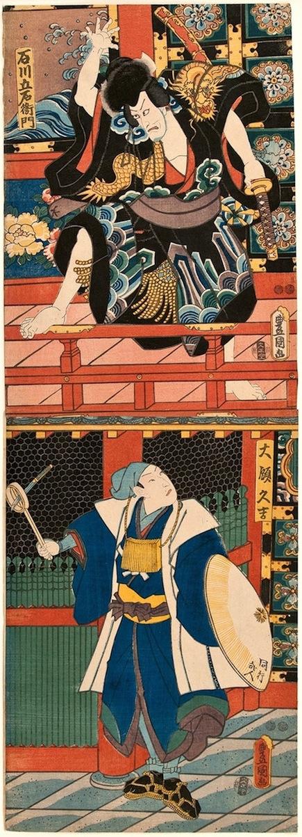 Kunisada, Ishikawa Goemon in Sanmon Gosan no Kiri - Kakemono-Utagawa Kunisada, Toyokuni III, Kakemono-e, Ishikawa Goemon, Sanmon Gosan no Kiri, japanese woodblock prints, japanese prints, ukiyo-e art