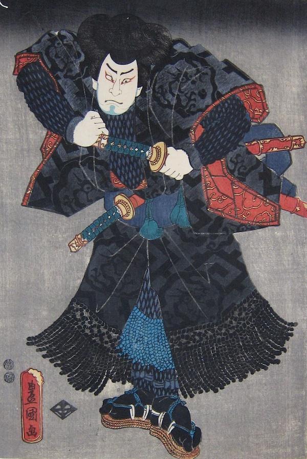 Kunisada, Portrait of Nakamura Shikan IV-Utagawa Kunisada, Toyokuni III, Nakamura Shikan IV, kabuki theatre prints for sale, japanese prints, japanese woodblock prints, ukiyo-e art