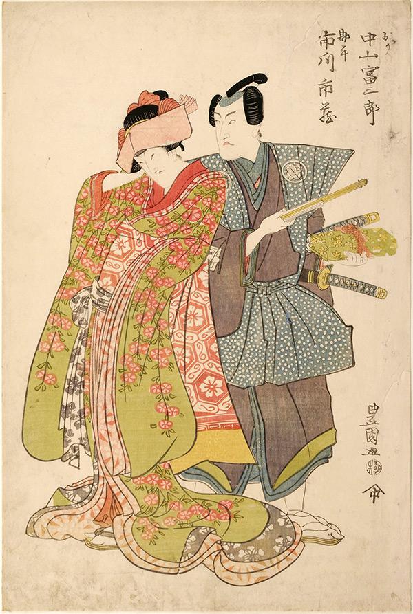 Utagawa Toyokuni, Nakayama Tomisaburo and Ichikawa Ichizo.-Utagawa Toyokuni I, Nakayama Tomisaburo and Ichikawa Ichizo, japanese ukiyo-e prints