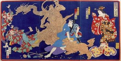 Baido, Actors in a Kabuki Drama