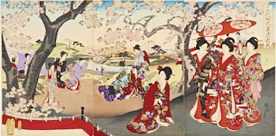 Chikanobu, Cherry Blossoms Party at the Chiyoda Palace