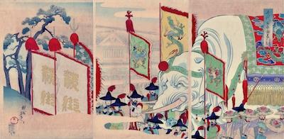 Chikanobu, Sanno Festival at the Chiyoda Palace