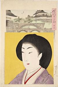 Chikanobu, Jidai Kagami (A Mirror of the Ages) The Meiji Era
