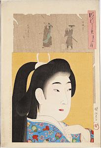 Chikanobu, Jidai Kagami (A Mirror of the Ages) The Tenwa Era