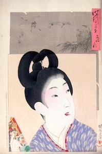 Chikanobu, A Mirror of the Ages - The Bunsei Era