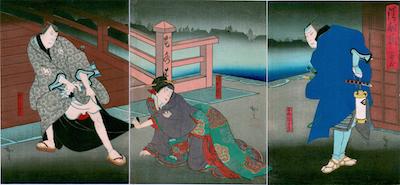 Hirosada, Scene from Act II of Kiyome no Funauta