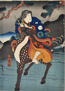 Hirosada, Kabuki Actor Riding a Deer