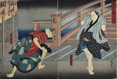Hirosada, Gokumon Shobei and Kurofune Chuemon
