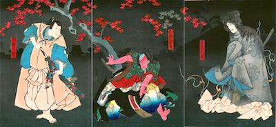 Hirosada, Ichikawa Ebizo V as the Ghost of Natora