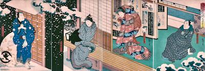 Hirosada, Scene from Keisei Somewake Tazuma