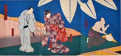 Hirosada, A Mirror of the Osaka Summer Festival