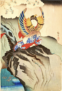 Hirosada, Nakamura Tamashichi I as the Spirit of a Mandarin Duck
