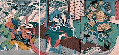 Hirosada, Nakamura Utaemon IV as Kato Masakiyo