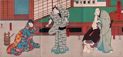 Hirosada, Nakamura Utaemon IV in Natsu Matsuri