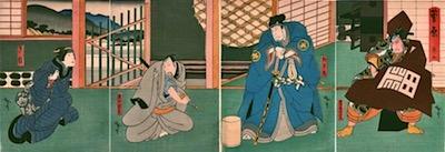 Hirosada, The Village School Scene from Sugawara Denju Tenarai Kagami