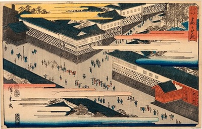 Hiroshige, Famous Places of Edo - Kasumigaseki
