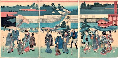 Hiroshige, Famous Places of the Eastern Capital - Kasumigaseki