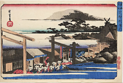 Hiroshige, Famous Places in the Eastern Capital - Shiba Shinmei Shrine