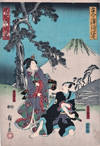 Hiroshige, Grand Series of New and Old Ballad Dramas - Act 3 Chushingura