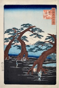 Hiroshige II, 100 Famous Views in the Various Provinces - Maiko Beach