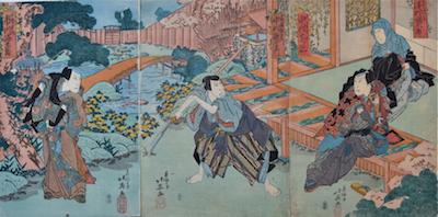 Hokuei, Sawamura Kunitaru as the Nun Shungetsu