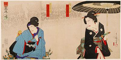 Kunichika, Kabuki Scene