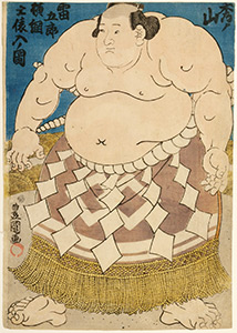 Kunisada, The Sumo Wrestler Hidenoyama Raigoro.