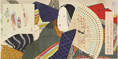 Kiyochika, Patterns of Flowers - Unknown Print from the Series