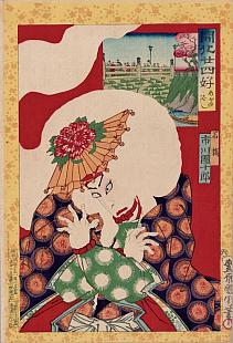 Kunichika, 24 Paragons of the Meiji Restoration - Meganebashi Bridge