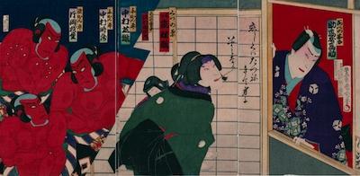 Kunichika, Scene from Ashiya Doman Ouchi Kagami