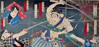 Kunichika, The Battle of Hakodate Castle