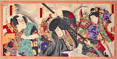 Kunichika, A Scene from the Exploits of Minamoto Yoshitsune