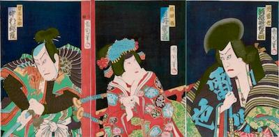 Kunichika, Kawarasaki Gonnosuke VII as Jiraiya