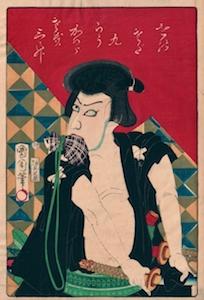 Kunichika, Kawarazaki Gonjuro as Ishikawa Goemon