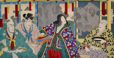 Kunichika, Minamoto no Yoshitsune and Tengu