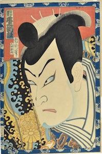 Kunichika, Onoe Kikugoro V as Shibata Katsuie