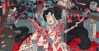 Kunichika, Onoe Kikugoro V as Taira no Masakado