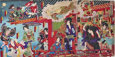 Kunichika, The Pavilion in the Sky