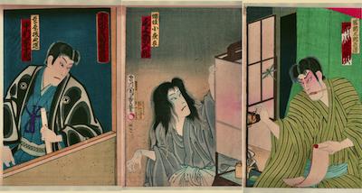 Kunichika, The Starlight Through the Trees and The Deer Piper of Hakone