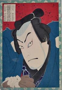 Kunichika, Vendetta at Hikosan - Nakamura Shikan IV as Keyamura Rokusuke