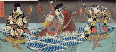 Kunikazu, Actors in Oguri Monogatari