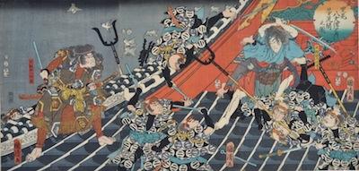 Kunikiyo, Fight on the Roof of the Horyukaku