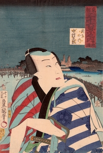 Kunisada, 36 Views of the Eastern Capital - Ryogoku Bridge