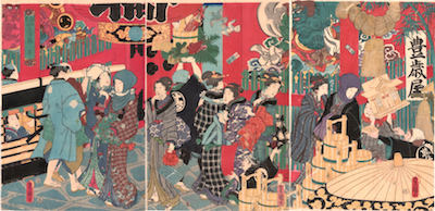 Kunisada, Four Seasons of Genji - Winter