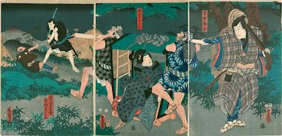 Kunisada, Act V from the Kanadehon Chushingura