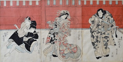 Kunisada, Actors in a Kabuki Drama