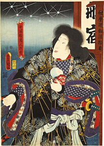 Kunisada, Scenes from Kabuki Plays - Bando Shuka as the Female Bandit Kijin no Omatsu