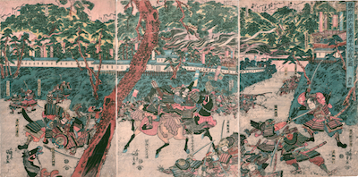 Kunisada, The Great Battle of the Minamoto and the Taira at the Palace of Suma