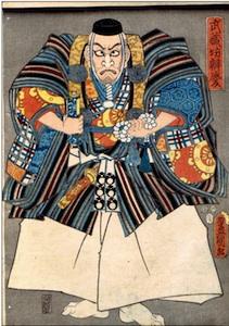Kunisada, Portrait of Benkei