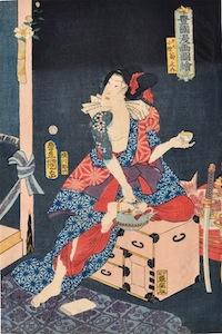 Kunisada, Iwai Kumesaburo III as Benten kozo Kikunosuke from Toyokuni Manga zue